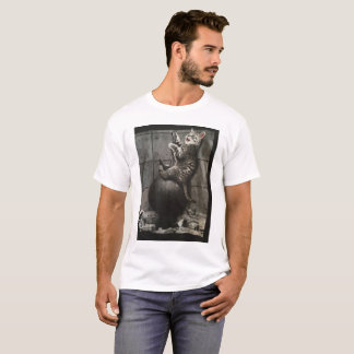 cat on a wrecking ball T-Shirt