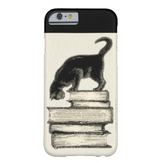 Cat on Books Barely There iPhone 6 Case