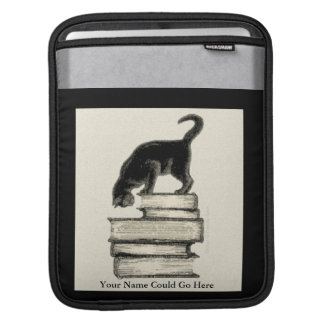 Cat on Books Traditional Look - IPad Sleeve