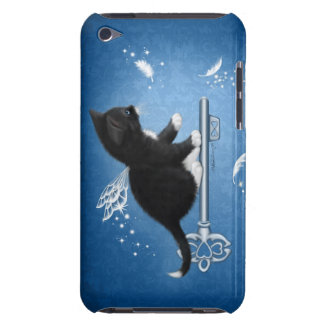 Cat on Key of Feathers iTouch Case Barely There iPod Case