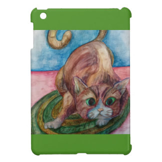 cat on mat i-pad mini case iPad mini cases