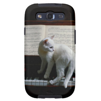 Cat on piano galaxy SIII cases