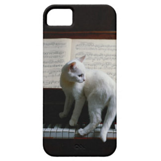 Cat on piano case for the iPhone 5