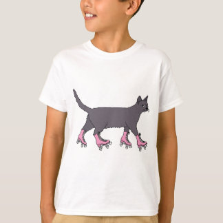 cat-on-roller-skates-shirt T-Shirt