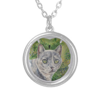Cat on Sand Dollar Necklace