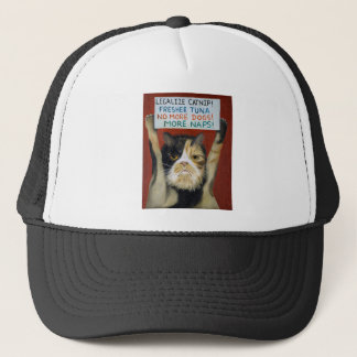 Cat On Strike Trucker Hat