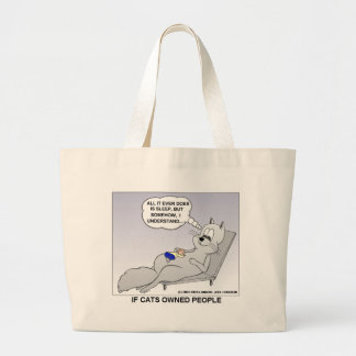 Cat Owner Funny Gifts Tees & Collectibles Jumbo Tote Bag
