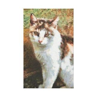 Cat painting canvas prints
