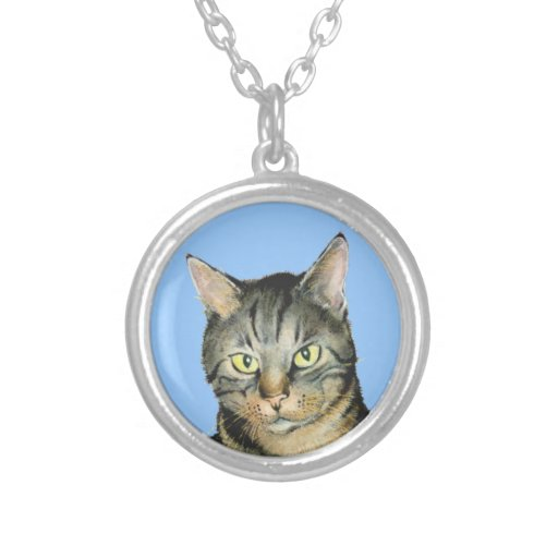 Cat Painting - Necklace
