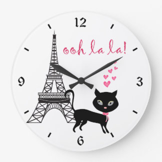 Cat Paris Clock