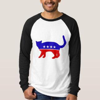 Cat Party mens raglan T-Shirt
