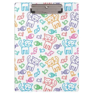 cat pattern clipboard