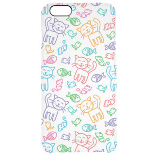 cat pattern uncommon clearly™ deflector iPhone 6 plus case
