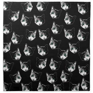 Cat pattern napkin