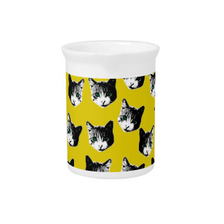 Cat pattern pitcher