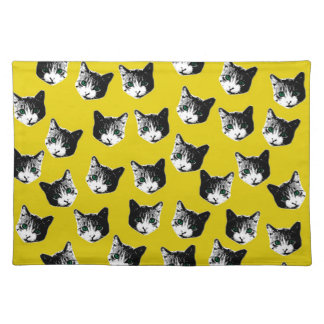 Cat pattern placemat