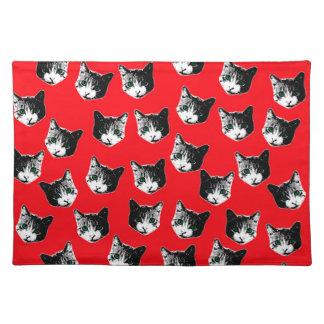 Cat pattern placemat