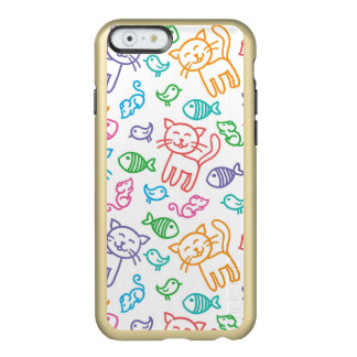cat pattern incipio feather® shine iPhone 6 case
