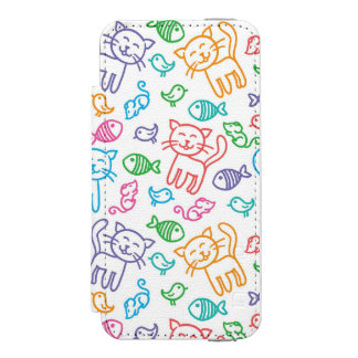 cat pattern incipio watson™ iPhone 5 wallet case