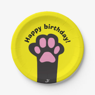 Cat paw 7 inch paper plate