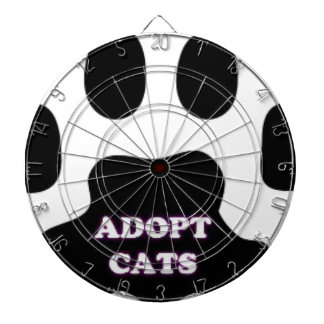Cat Paw Adopt Cats with Cute Lettering FUN! Dartboard