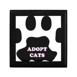 Cat Paw Adopt Cats with Cute Lettering FUN! Gift Box