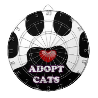 Cat Paw Adopt Cats with Cute Red Heart Kittahz Dartboard
