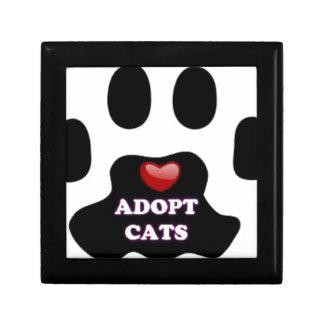 Cat Paw Adopt Cats with Cute Red Heart Kittahz Gift Box