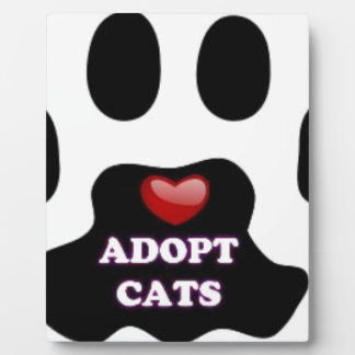 Cat Paw Adopt Cats with Cute Red Heart Kittahz Plaque