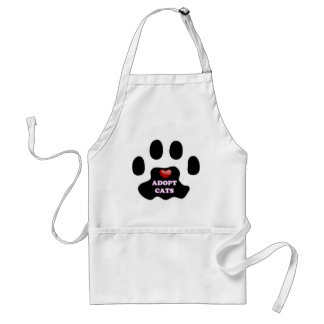 Cat Paw Adopt Cats with Cute Red Heart Kittahz Standard Apron