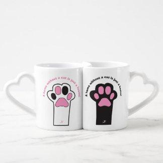 Cat paw coffee mug set