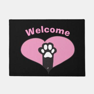 Cat paw doormat