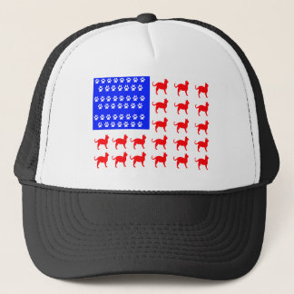 Cat + Paw Flag Trucker Hat