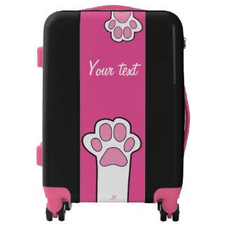 Cat paw luggage