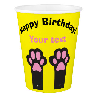 Cat paw paper cup