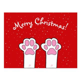 Cat paw postcard