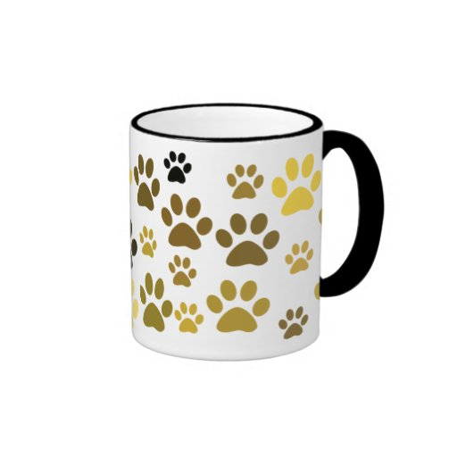 Cat Paw Print Coffee Mug