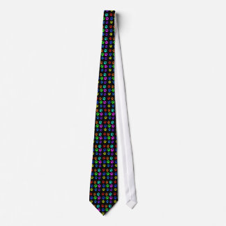 cat paw print necktie on black