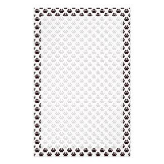 Cat Paw Print Pattern Stationery