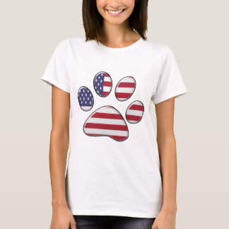 cat paw print us flag.png T-Shirt