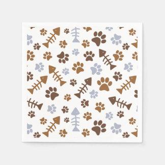 Cat Paw Prints Pattern Paper Napkin