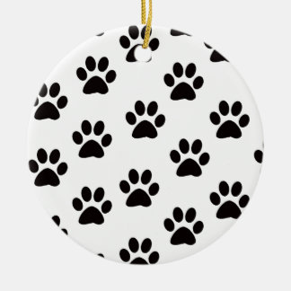 Cat Paw Prints Round Ornament
