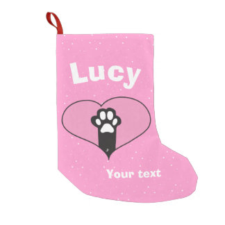 Cat paw small christmas stocking