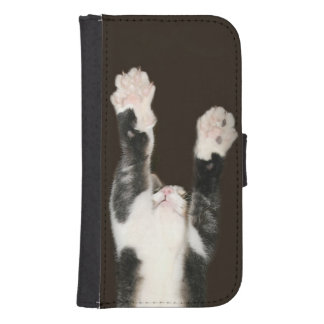 Cat paws galaxy s4 wallet cases