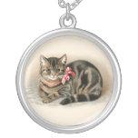 Cat Pendant Cute Vintage Cat Necklace Jewellery