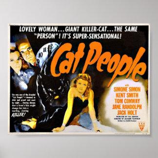 Cat People Vintage Horror Poster
