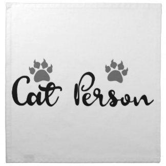 Cat Person Typography Art Napkin