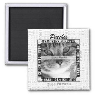 Cat Pet Memorial Custom Photo Square Magnet