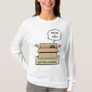 Cat Philosophy - Ladies Long Sleeve T-Shirt