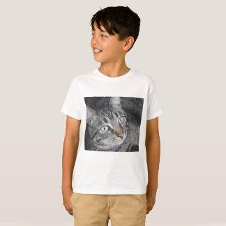 Cat photo children's t-shirt white